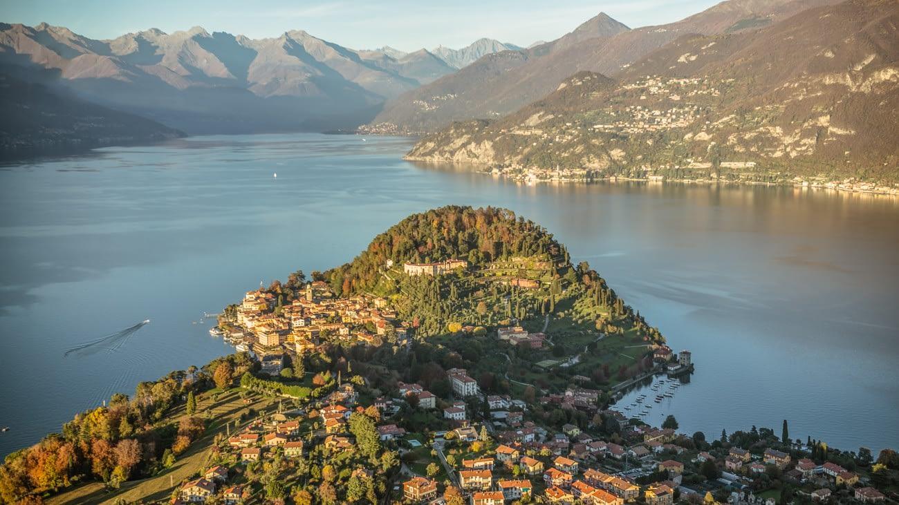 Veduta aerea di Bellagio, lago di Como - Foto di Fabio Fargnoli