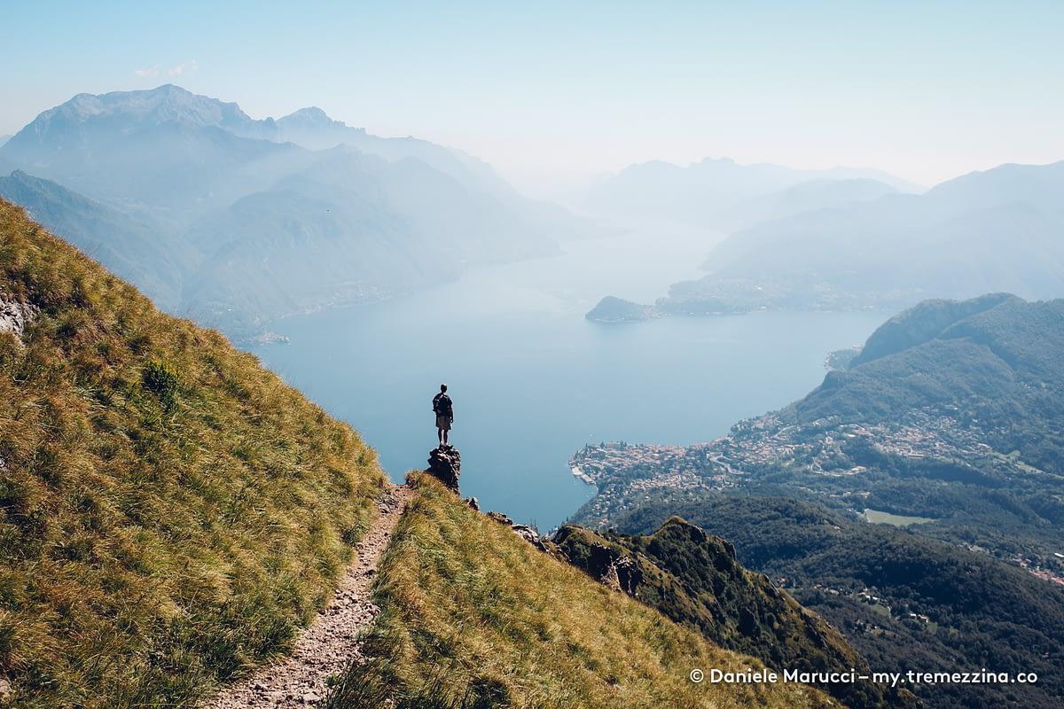 Lago di Como visto dal Monte Grona