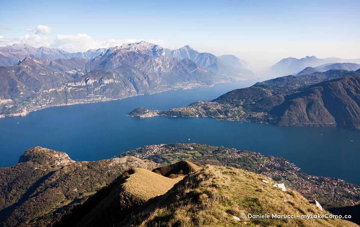 Lago di Como visto dal Monte Crocione