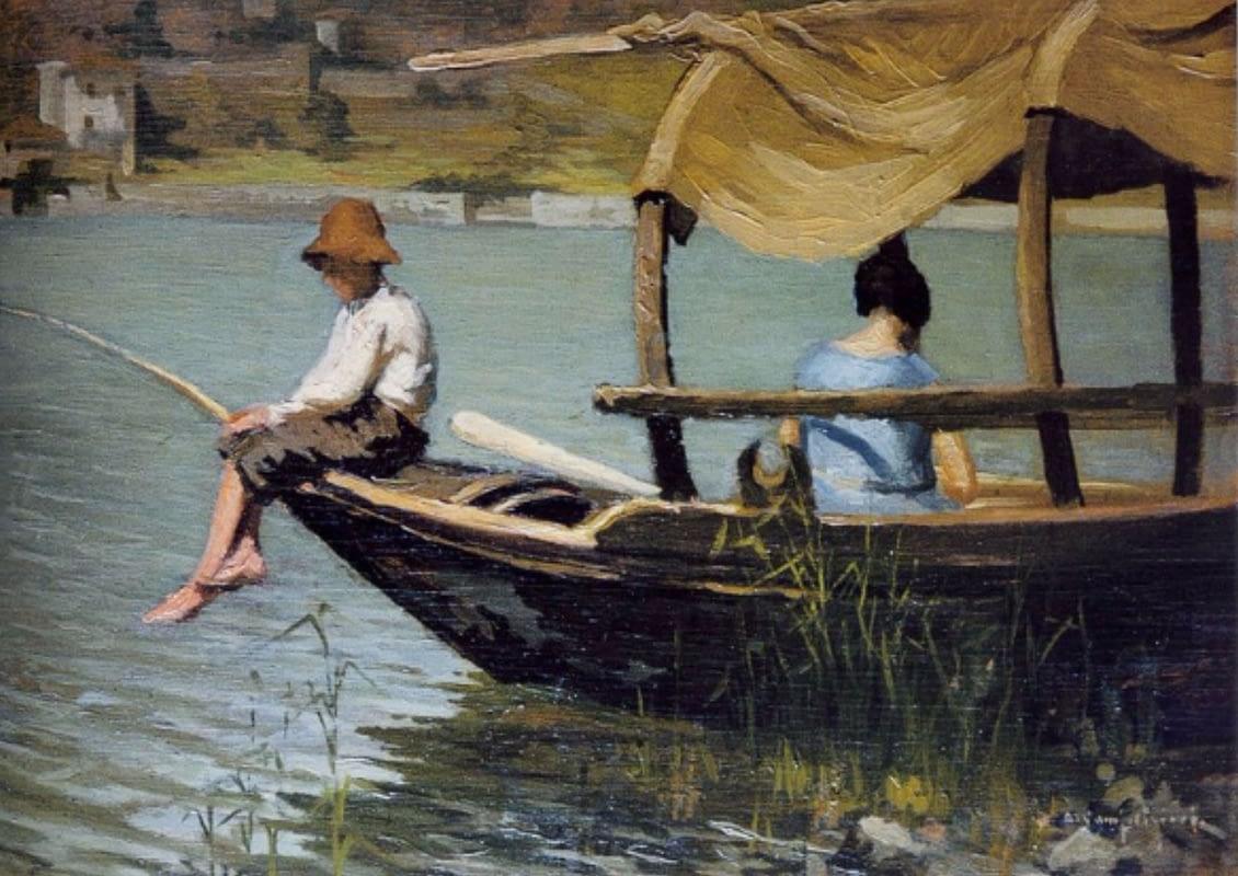 Pescatore, Isola Comacina, Ernesto Alcide Campestrini