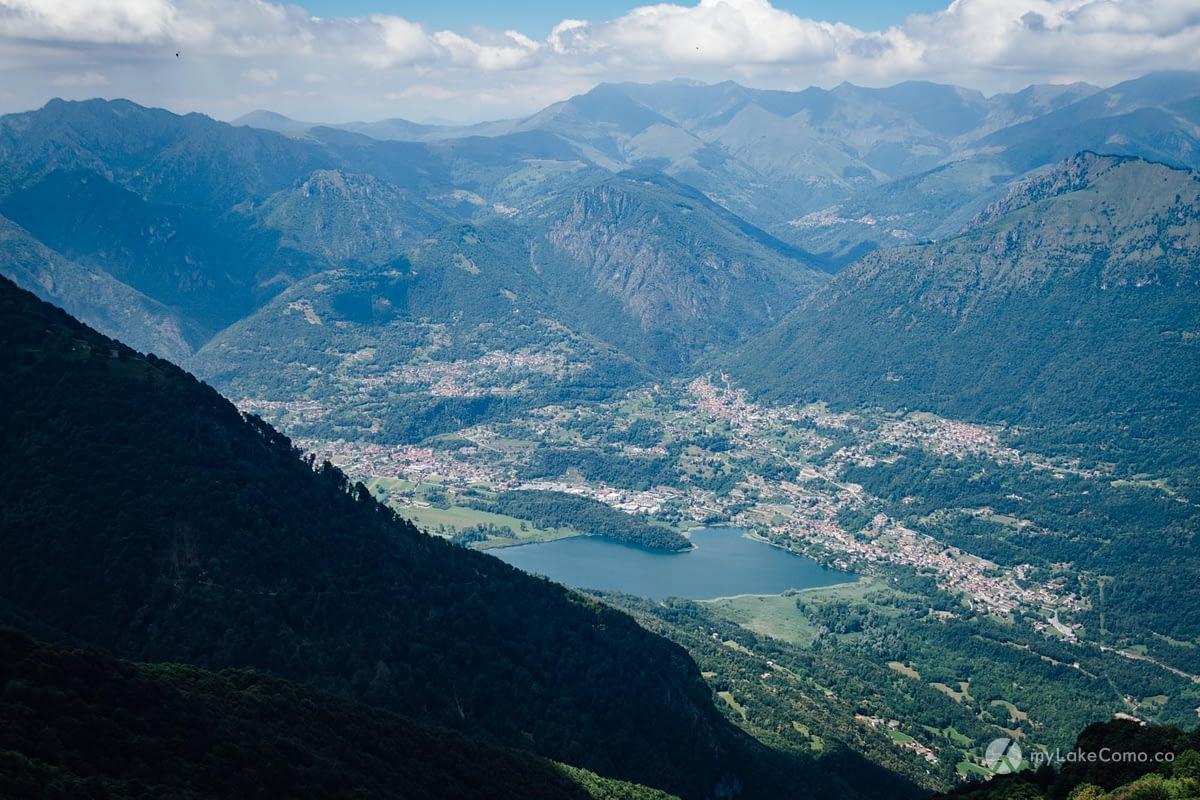 Riserva Lago di Piano vista dal Monte Galbiga